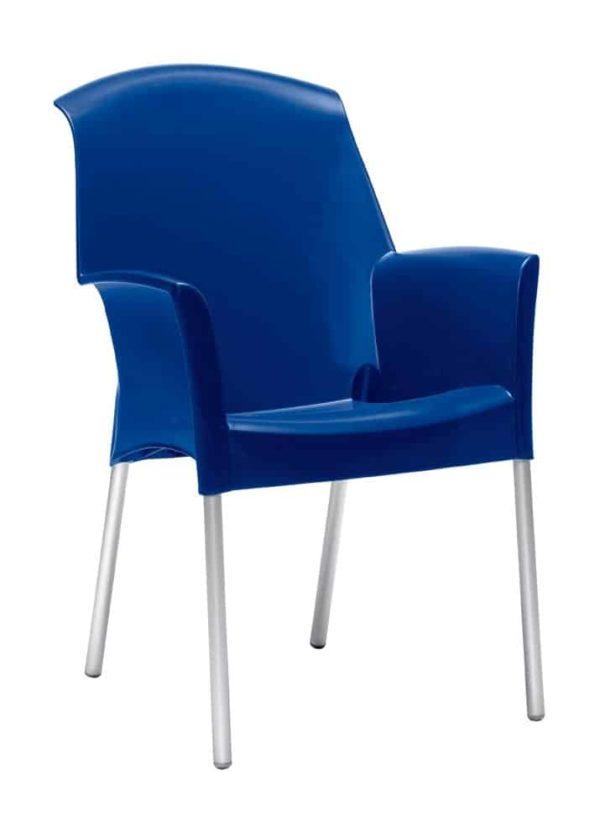 Kantinestoelen of tuinstoel Design recyclebaar NLCCSJ blauw
