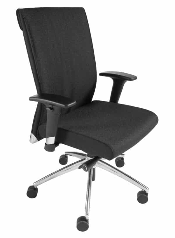Ergonomische bureaustoel 1810 EN-1335 Zwart stof