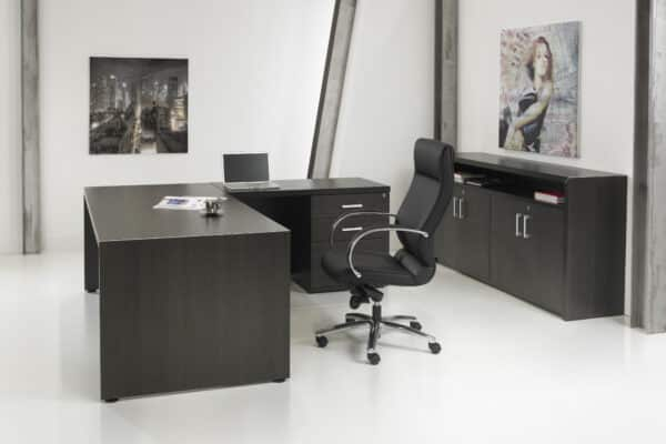 Directiebureau Chief model hoekbureau met ladenblok 210x210cm
