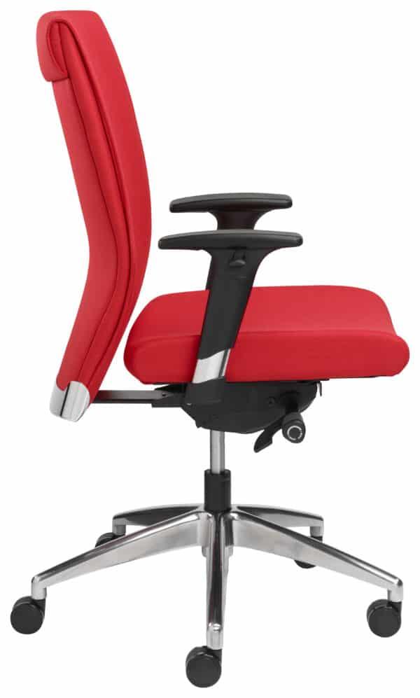 Ergonomische bureaustoel 1810 EN-1335 Rood stof