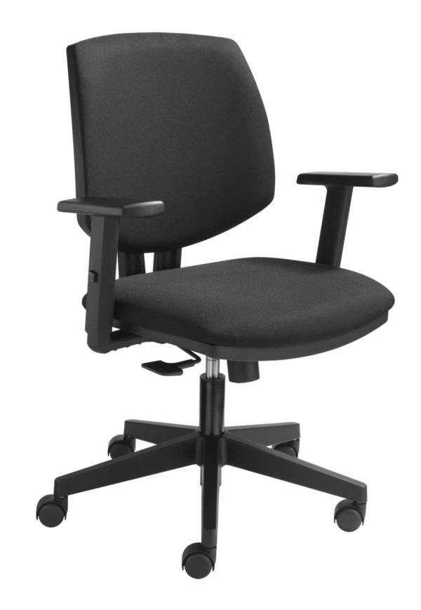 Ergonomische bureaustoel zwart 1638