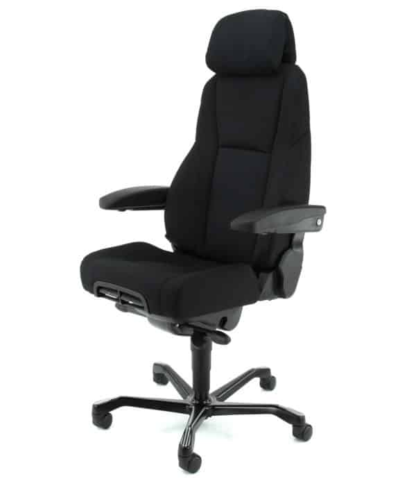 Super ergonomische 24-uurs bureaustoel A381, Zwart stof