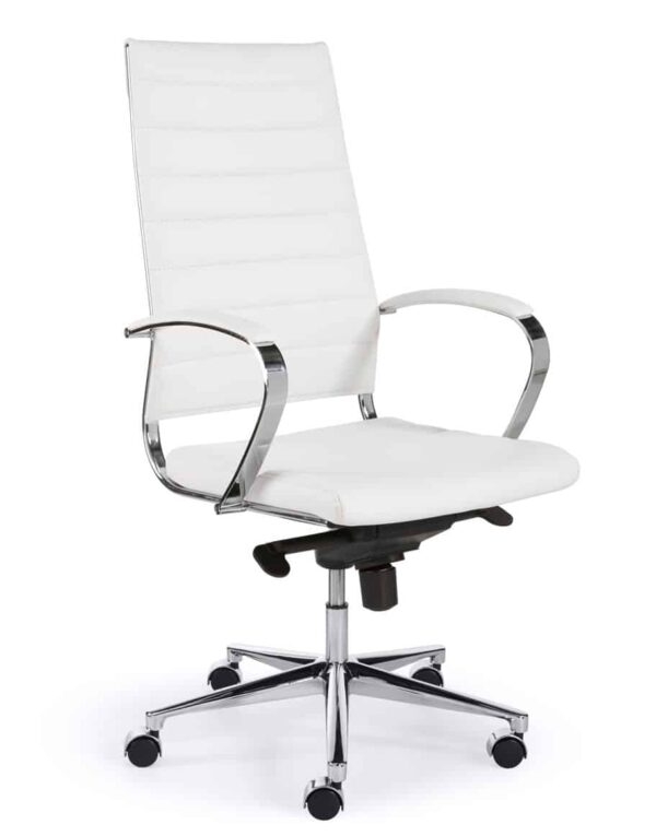 Ergonomische bureaustoel design 601 hoge rug in Wit