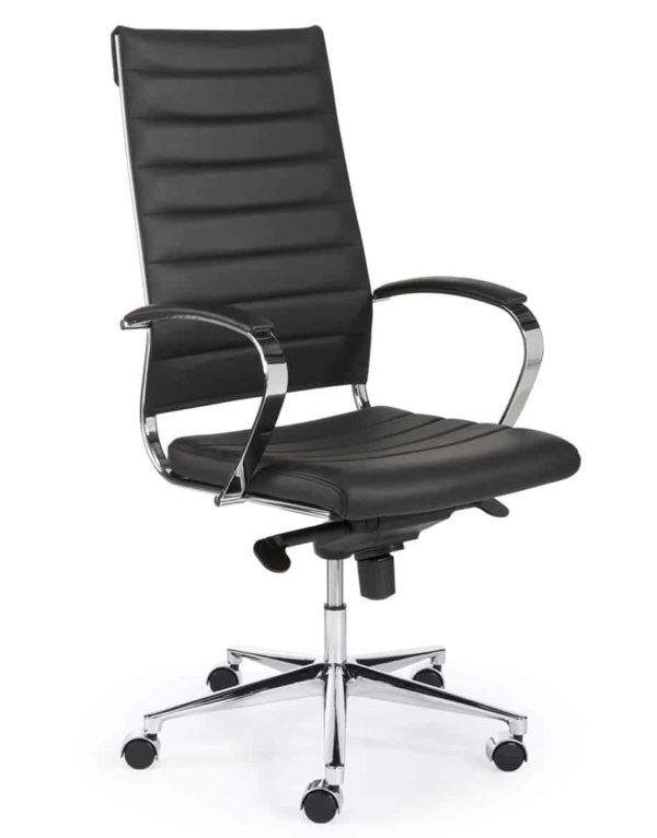 Ergonomische bureaustoel design 601 hoge rug in Zwart