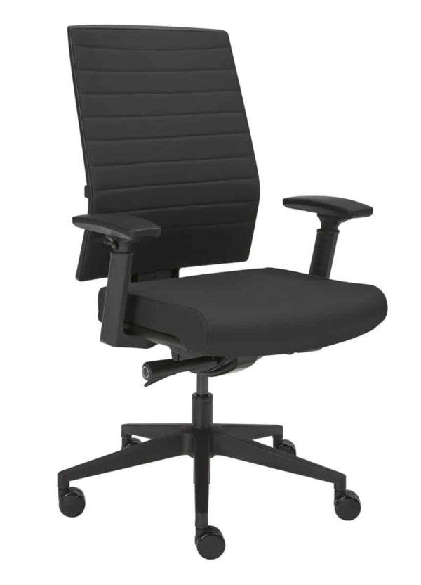 Ergonomische bureaustoel 1332 in stof Zwart