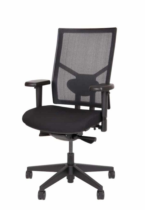Ergonomische bureaustoel 987 NPR-1813 zwarte zitting met rug in zwart mesh stof