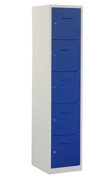 Industriële locker garderobekast 5 deurs (190×41,5×45 cm)