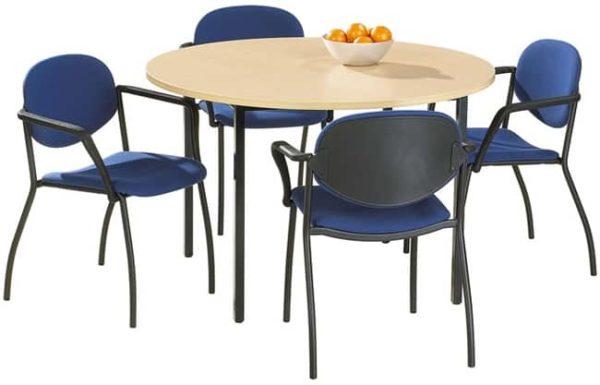 Ronde vergadertafel of kantoortafel Kubus 120 cm