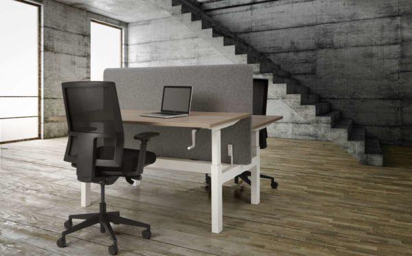 Duo bench slinger verstelbaar zit zit bureau
