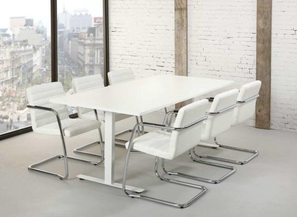 Rechthoekige vergadertafel design T-poot 200x100cm