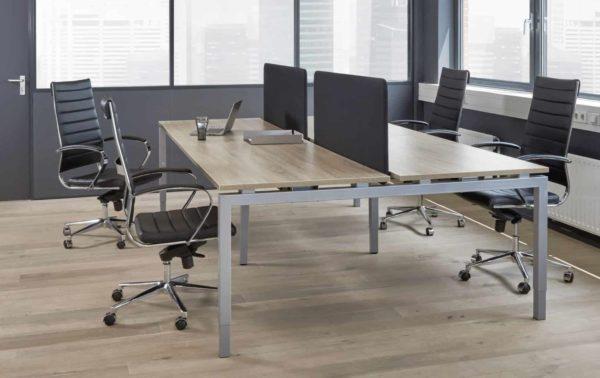 Hoogte verstelbare 4 persoons Bench werkplek