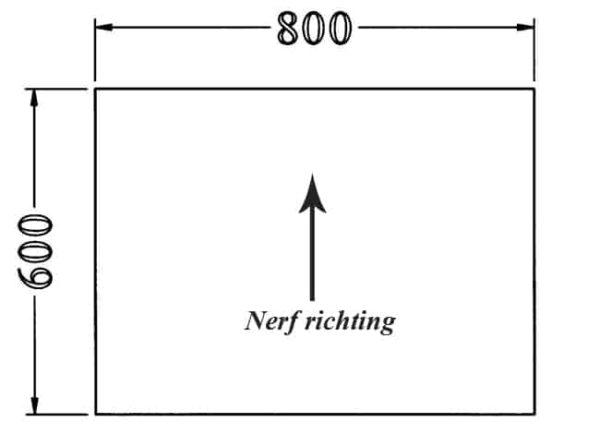 Los recht 25 mm melamine bureaublad 60X80CM