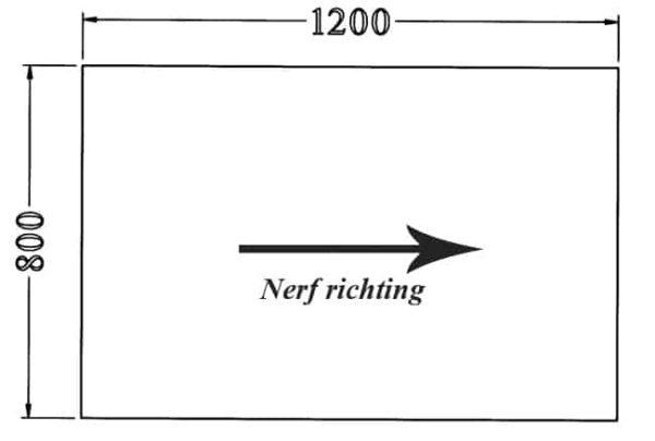 Los recht 25 mm melamine bureaublad 120X80CM