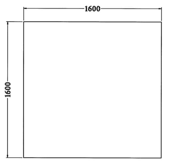 Los vierkant 25 mm melamine bureaublad 160X160CM