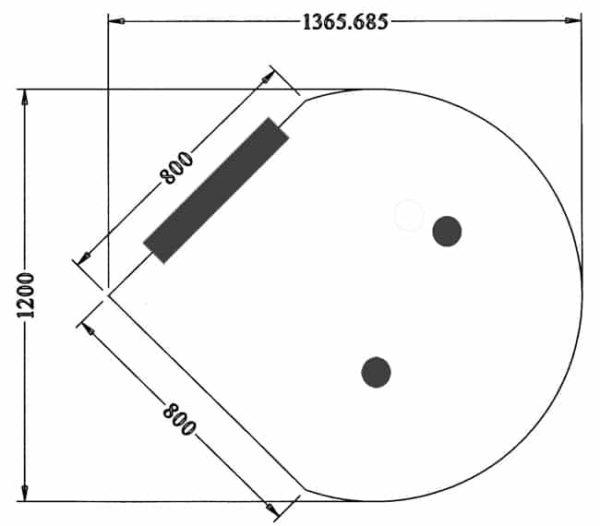 Vergadertafel aanbouw diameter Ø120cm