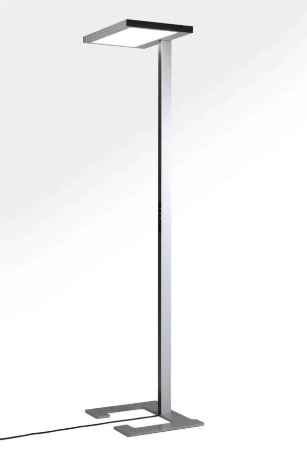 Vloerlamp Luctra Vitawork 17 Sym. PIR, aluminium / zwart