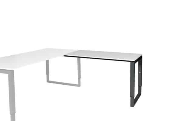 Domino Plus aanbouwtafel, hoogte instelbaar met O-poot frame