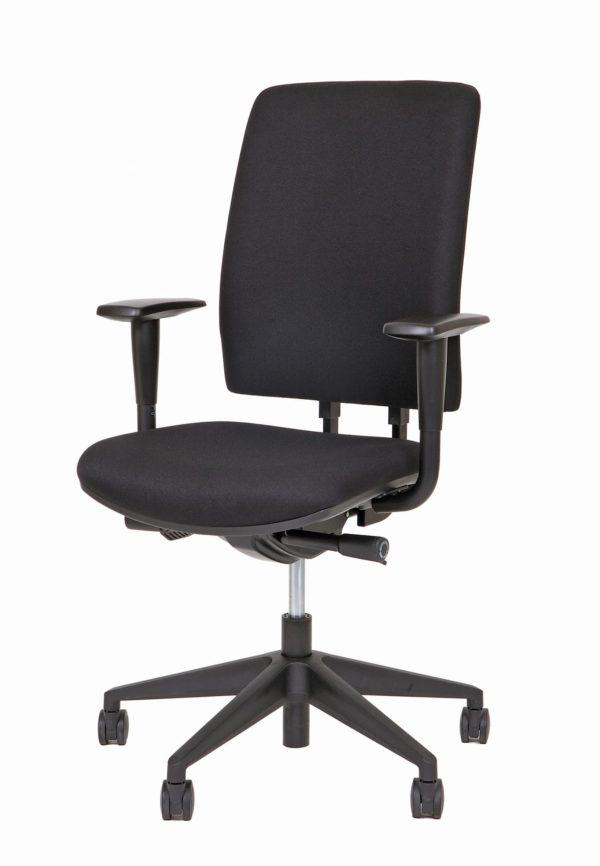 Ergonomische bureaustoel A680 met EN-1335 normering. In zwart stof