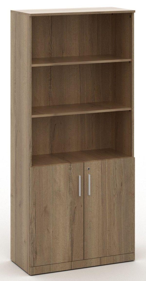Half open houten archiefkast 200x90x42 Halifax Eiken