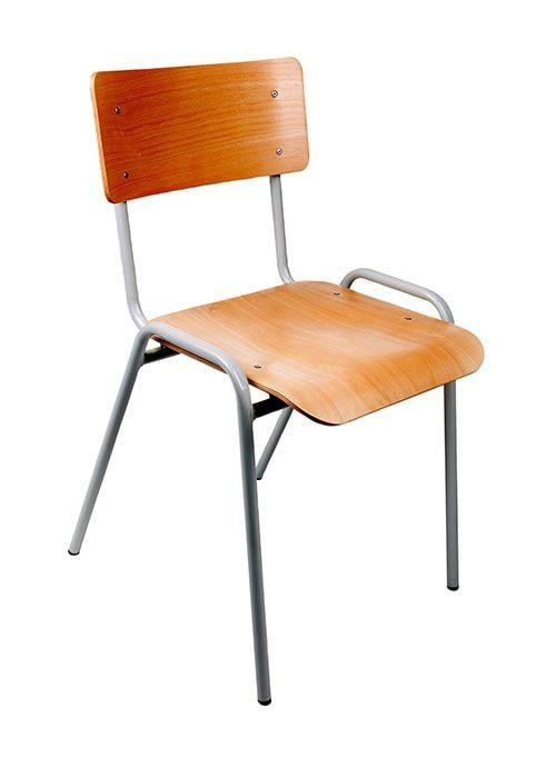 Kantinestoel stapelstoel model Milaan Lichtgrijs