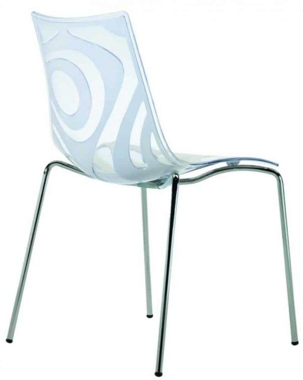 Kantinestoelen Design Luisa Battaglia Doorschijnend ivoor