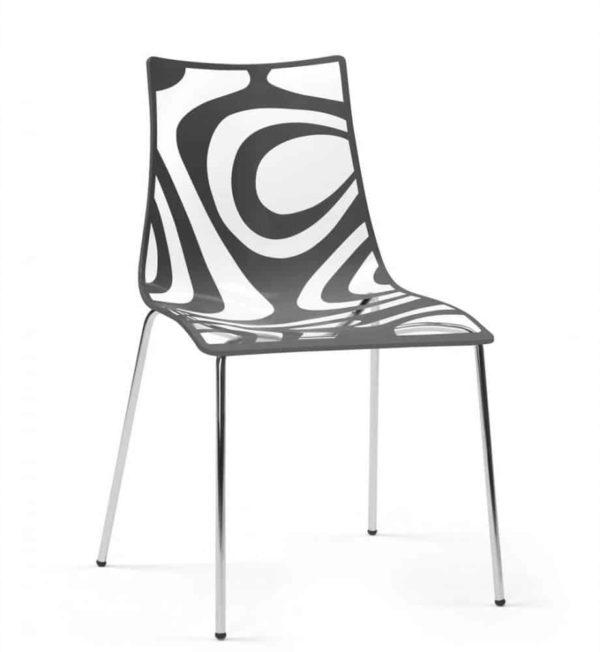 Kantinestoelen Design Luisa Battaglia Doorschijnend antraciet