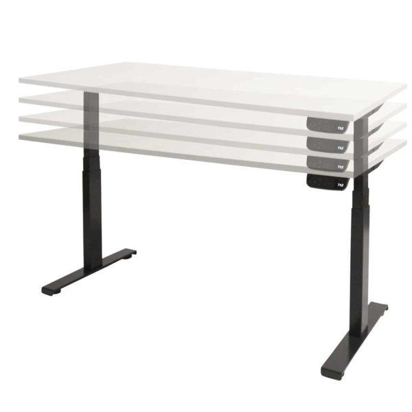 Dextro plus zit/sta, elektrisch hoogte verstelbaar T-poot bureau