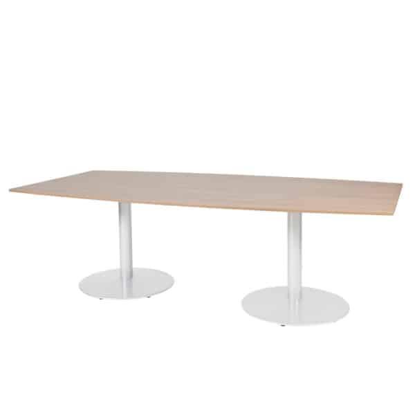 Linesto tonvormige vergadertafel op vaste hoogte (74cm)