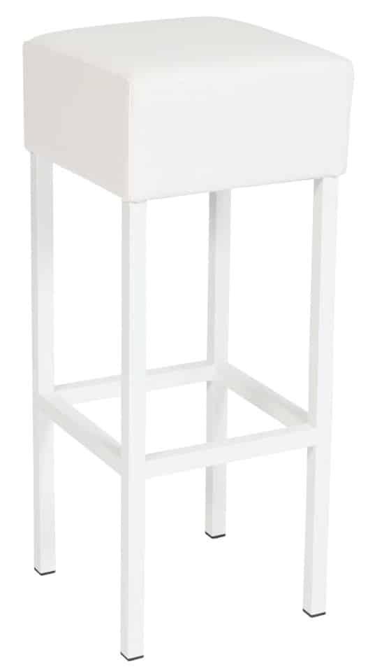 Barkruk Design met wit frame wit