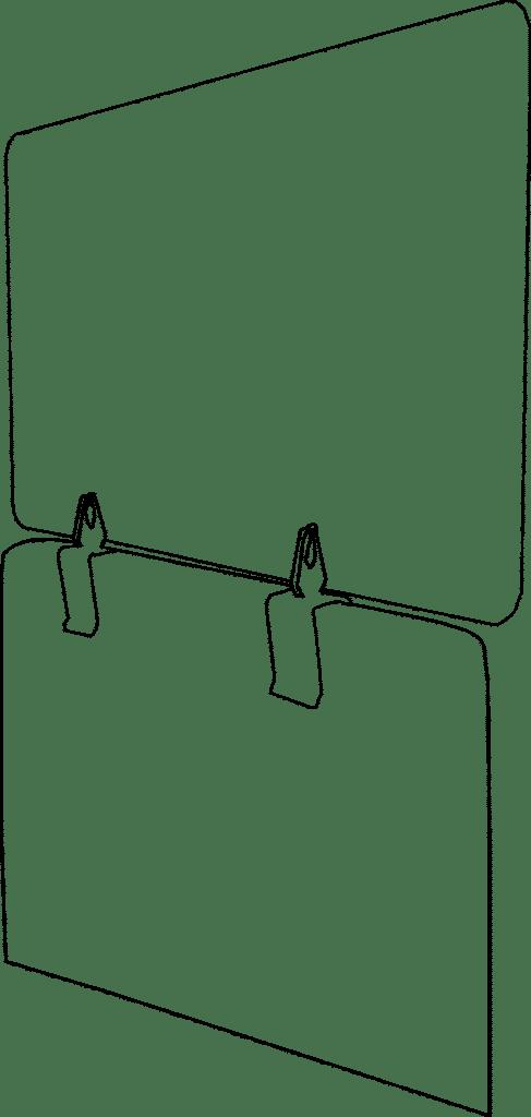 Plexio Opzetwand voor Zit- Sta