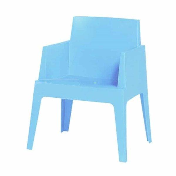 Kantinestoel Cube Lichtblauw