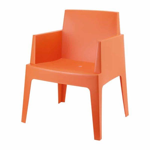 Kantinestoel Cube Oranje