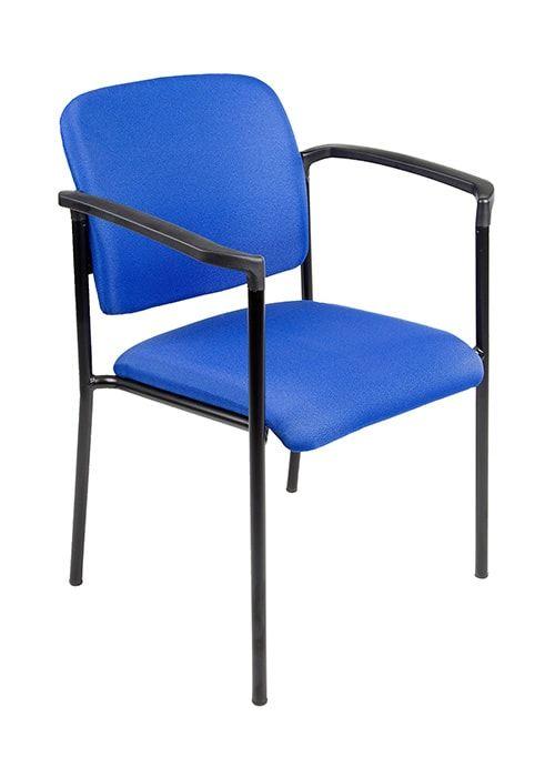 Vergaderstoel Bonanza Blauw met Zwart frame