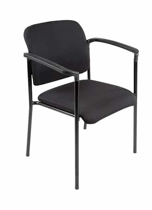 Vergaderstoel Bonanza Zwart met Zwart frame