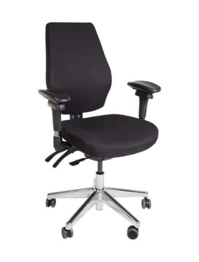 Bureaustoel Basic Zwart met metalen voetkruis