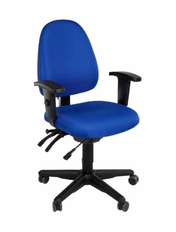 Bureaustoel Stella Nova Blauw Stof met kunststof voetkruis
