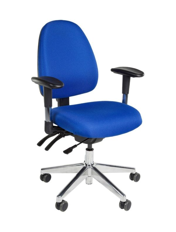 Bureaustoel Stella Nova Blauw Stof met metalen voetkruis