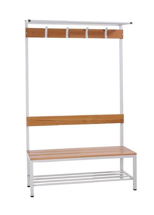 Garderobe set voor kleedkamers 189cm hoog x 120cm breed x 40cm diep Enkelzijdig