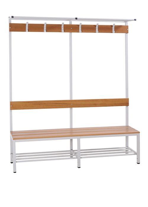 Garderobe set voor kleedkamers 189cm hoog x 160cm breed x 40cm diep Enkelzijdig