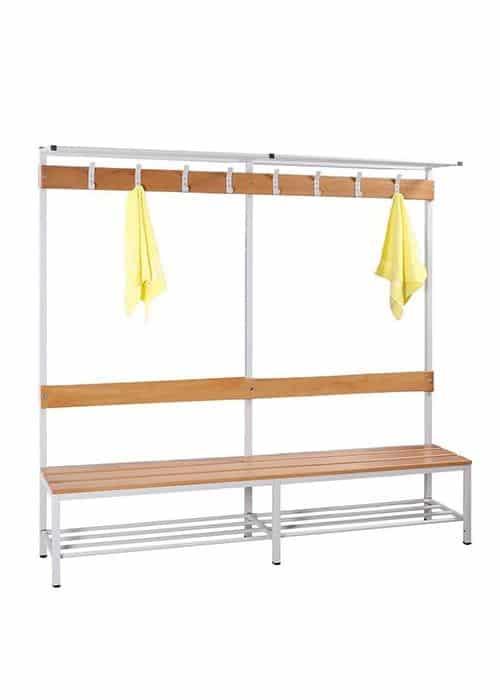 Garderobe set voor kleedkamers 189cm hoog x 200cm breed x 40cm diep Enkelzijdig